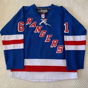 Reebok NHL NY Rangers Nash Jersey Blue Sz 48